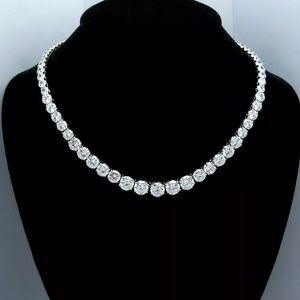 Jewelry - .45 CTW Round Diamond Tennis Necklace